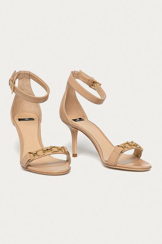 Elisabetta Franchi - Sandale de piele culoarea tenului