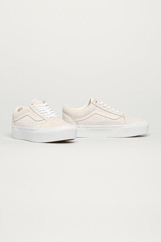 Vans - Kožené tenisky biela