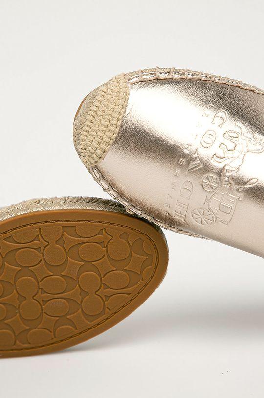 aur Coach - Espadrile de piele