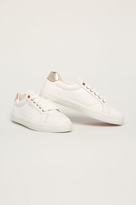 Gant - Kožená obuv Seaville biela