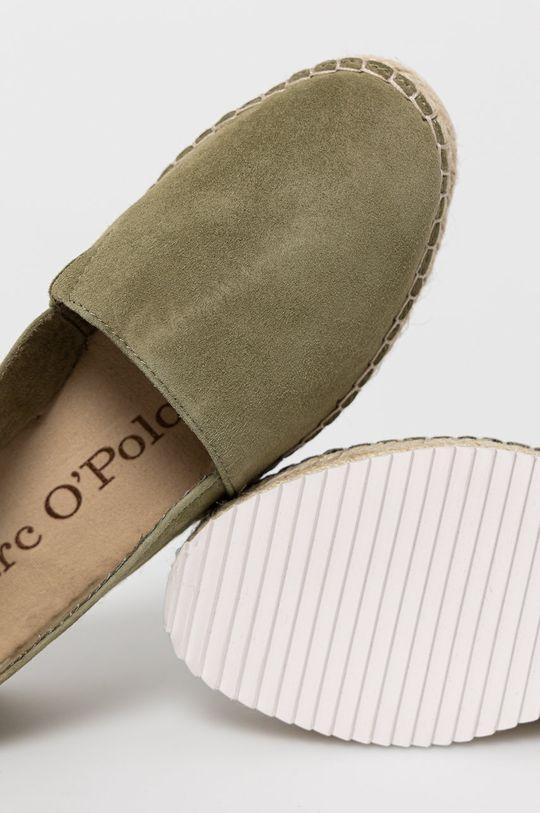 oliwkowy Marc O'Polo - Espadryle zamszowe