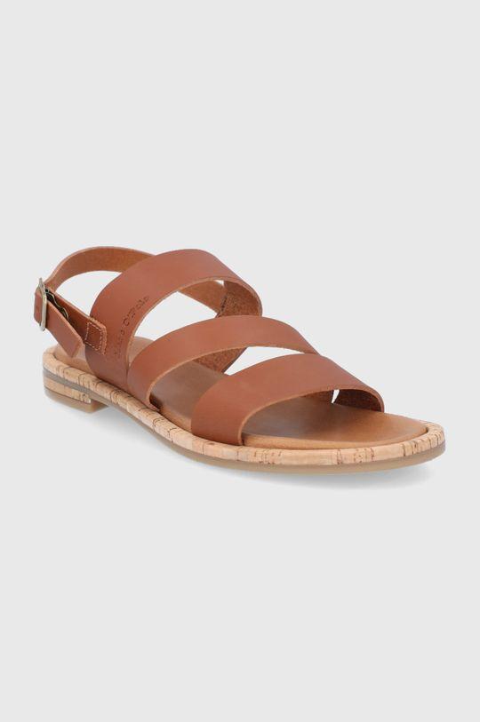 Marc O'Polo - Kožené sandále hnedá