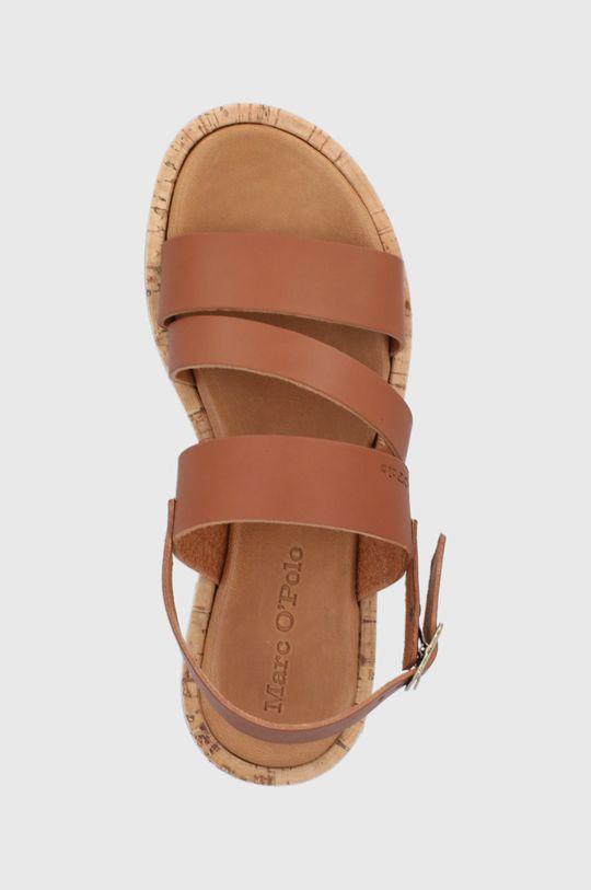 hnedá Marc O'Polo - Kožené sandále