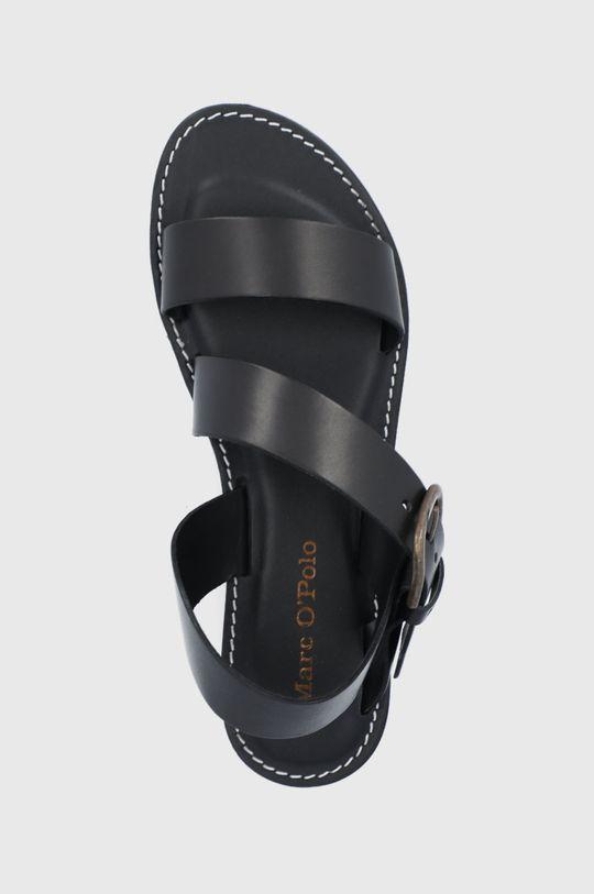 czarny Marc O'Polo - Sandały skórzane