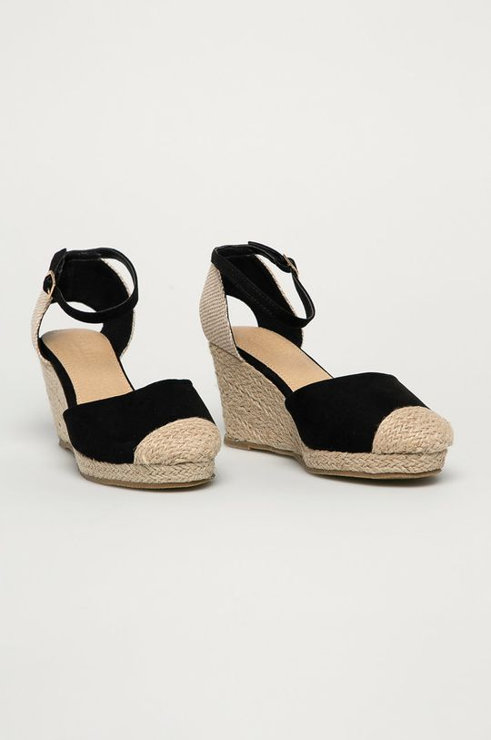 Truffle Collection - Espadrile negru