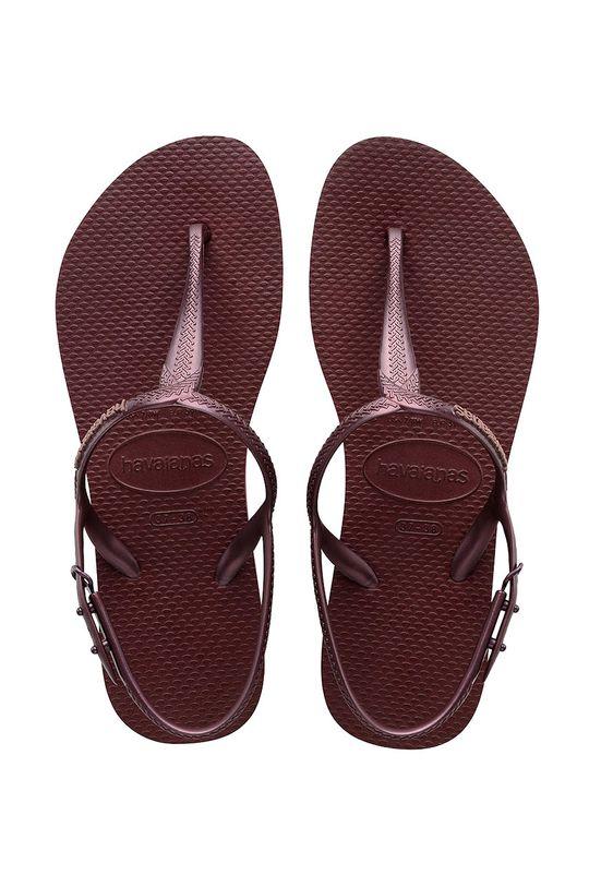 kasztanowy Havaianas - Sandały