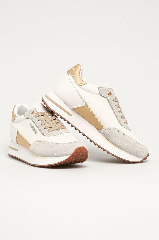 Napapijri - Kožená obuv biela