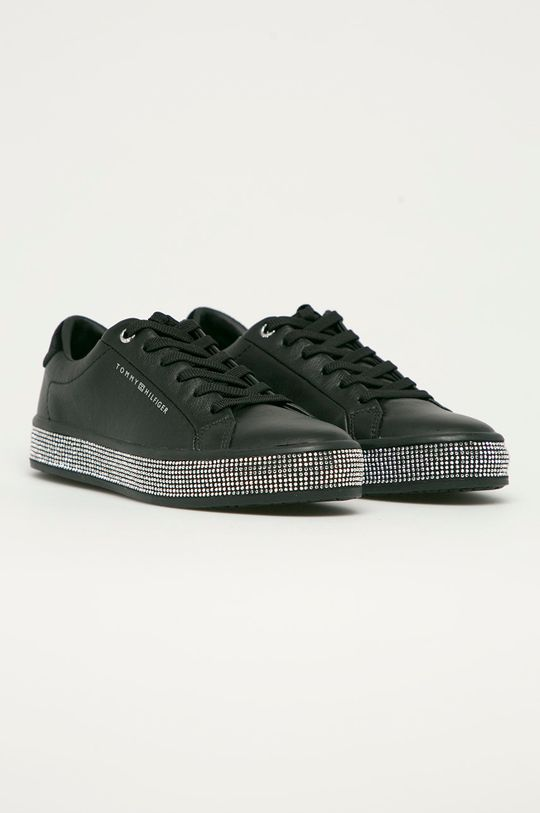 Tommy Hilfiger - Kožená obuv čierna
