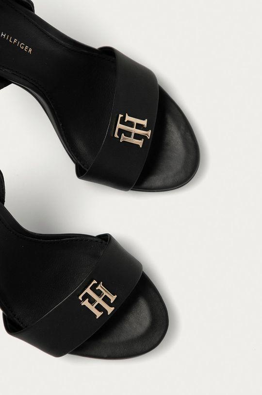 czarny Tommy Hilfiger - Sandały skórzane