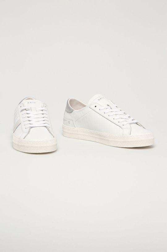 D.A.T.E. - Buty skórzane Hill Low Vintage biały