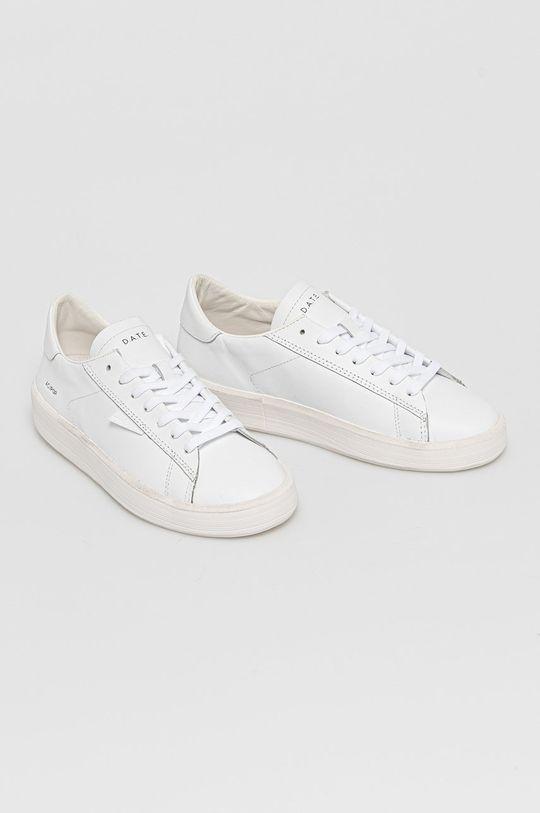D.A.T.E. - Kožená obuv Ace Pop biela