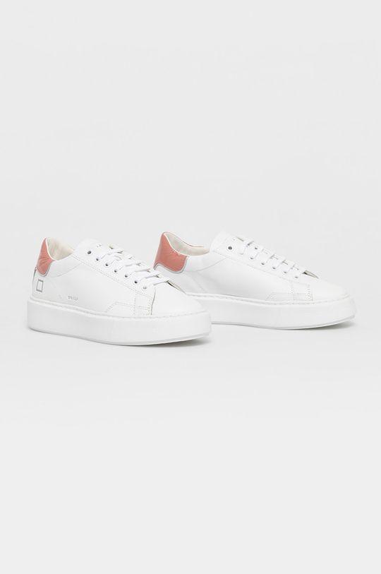 D.A.T.E. - Kožená obuv SFERA biela