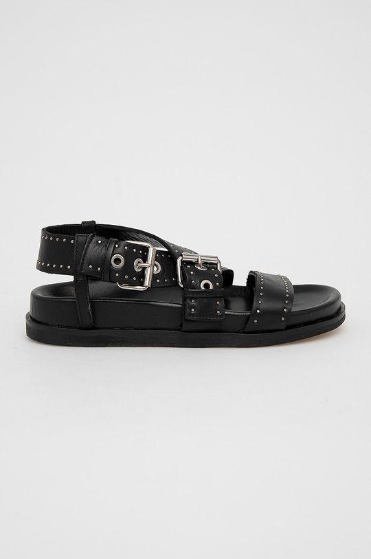 černá AllSaints - Kožené sandály NINA Dámský