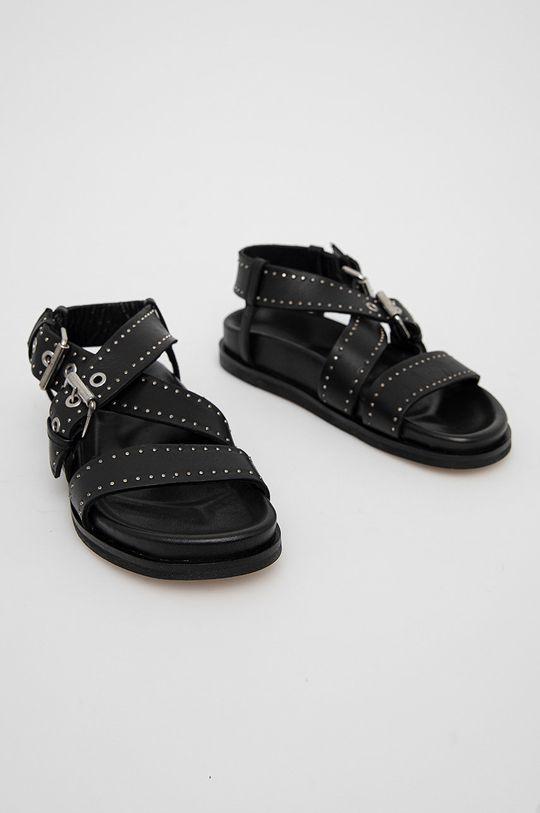 AllSaints - Kožené sandály NINA černá