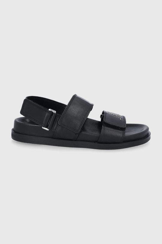 čierna AllSaints - Kožené sandále Eliza Dámsky