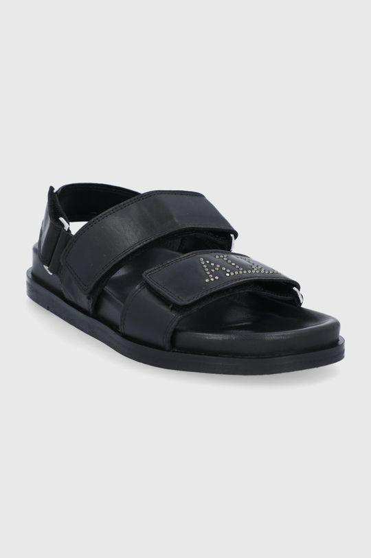 AllSaints - Kožené sandále Eliza čierna