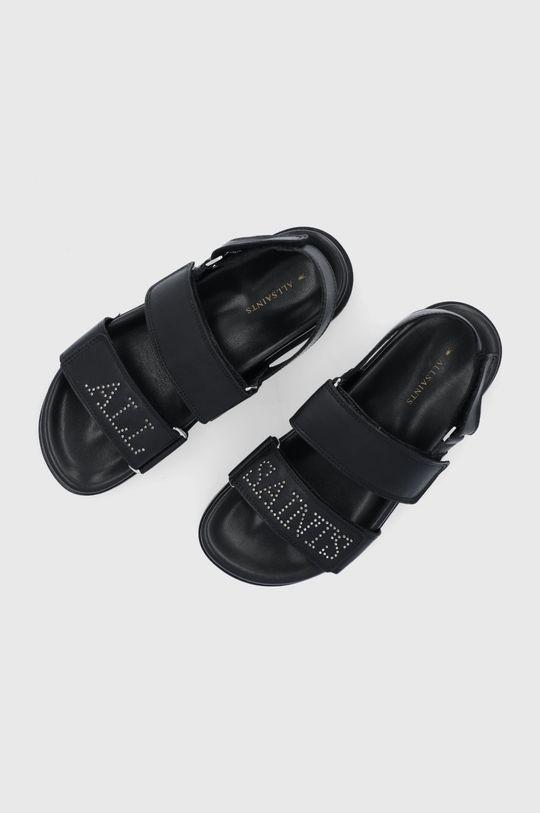 čierna AllSaints - Kožené sandále Eliza