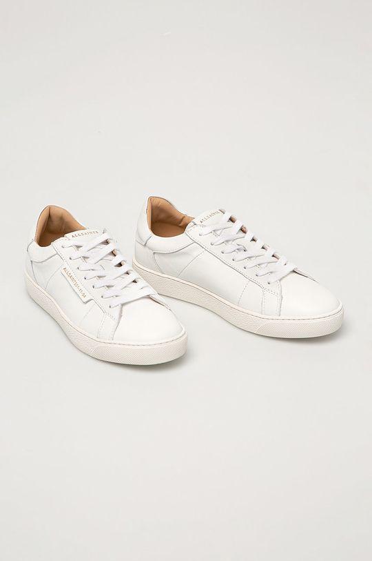 AllSaints - Kožená obuv Sheer biela