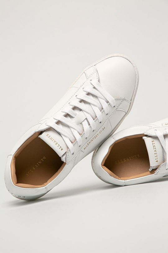 biela AllSaints - Kožená obuv Sheer