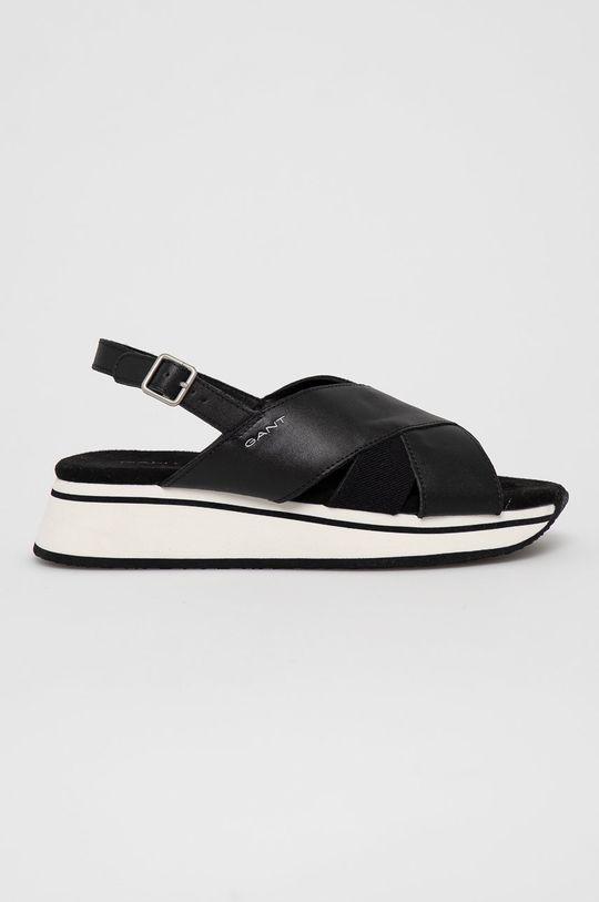 czarny Gant - Sandały skórzane Jaidyn Damski