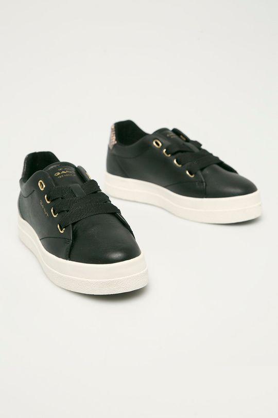 Gant - Kožené boty Avona černá