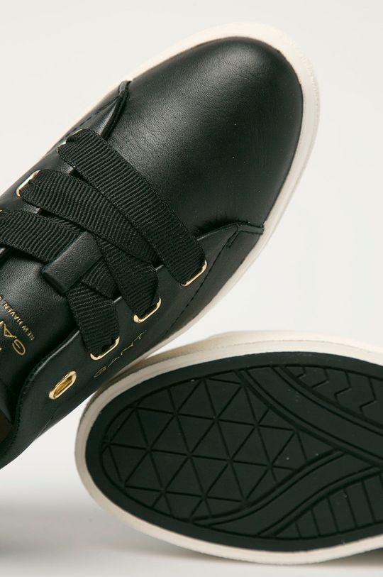 černá Gant - Kožené boty Avona