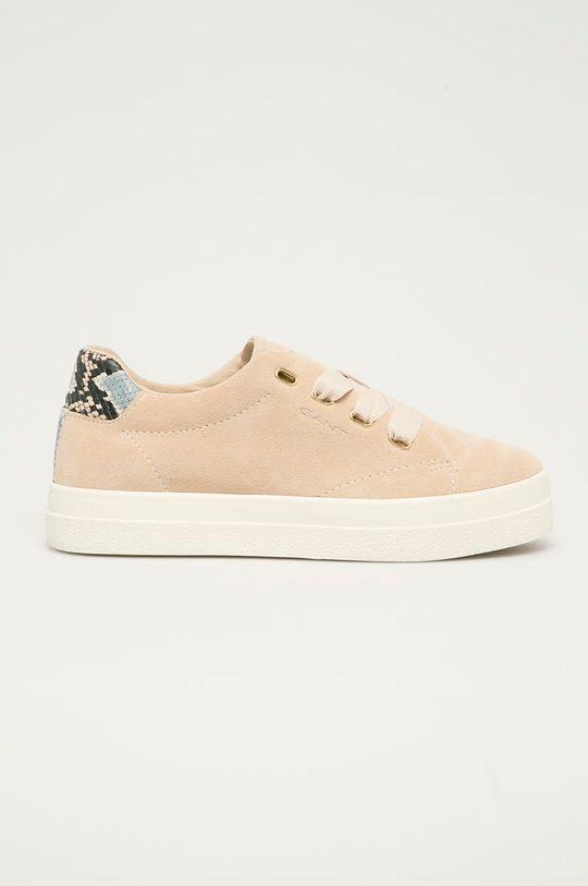 béžová Gant - Semišové boty Avona Dámský
