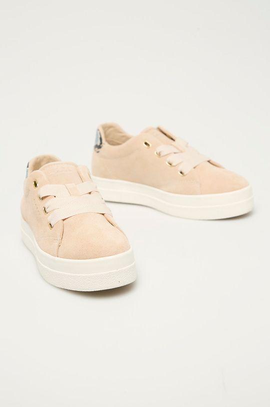 Gant - Semišové boty Avona béžová