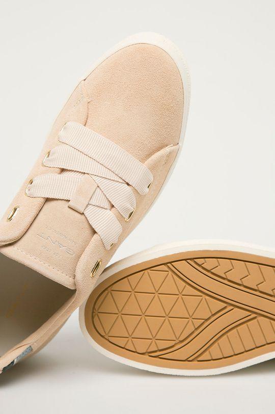 béžová Gant - Semišové boty Avona