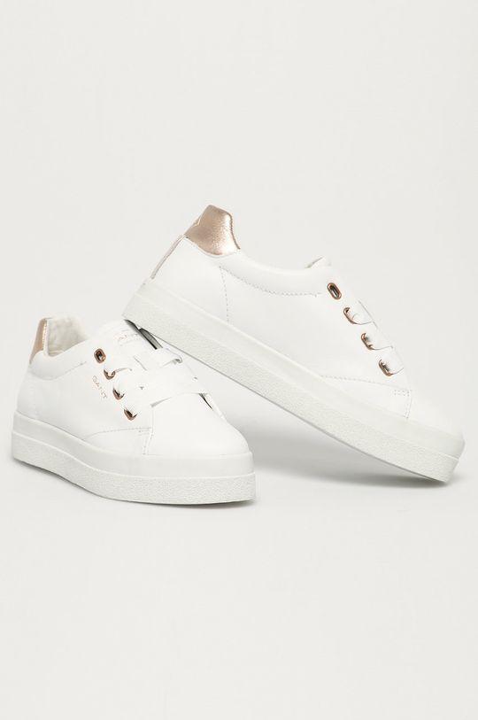Gant - Kožené boty Avona bílá
