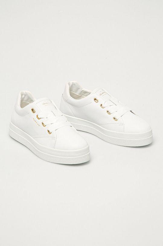 Gant - Kožená obuv Avona biela