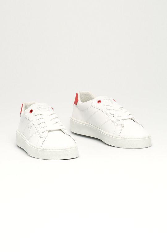 Gant - Kožené boty Lagalilly bílá