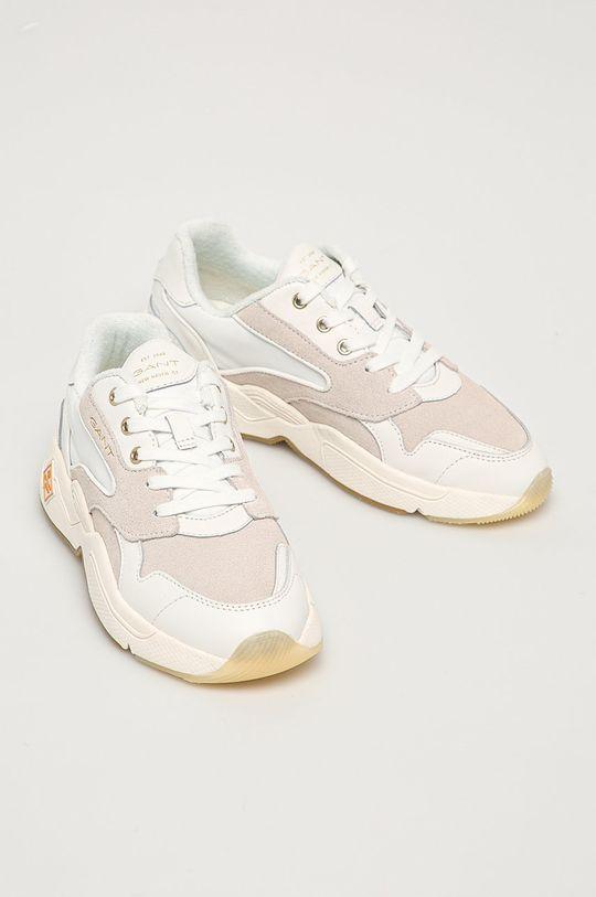 Gant - Kožená obuv Nicewill biela