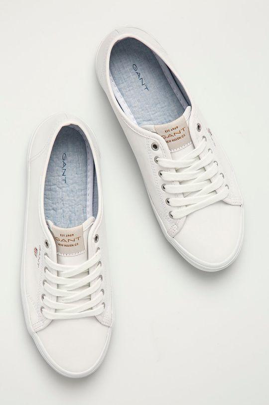biały Gant - Tenisówki skórzane Preptown