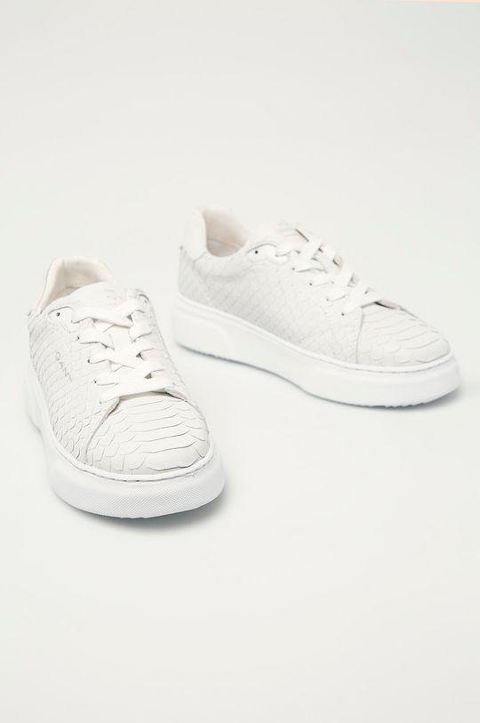 Gant - Kožená obuv Seacoast biela
