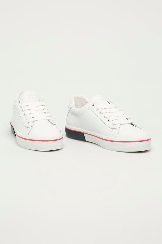 Gant - Kožené boty Seaville bílá