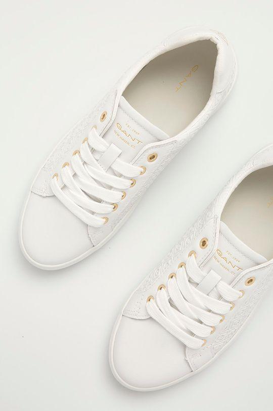 biały Gant - Tenisówki skórzane Seaville