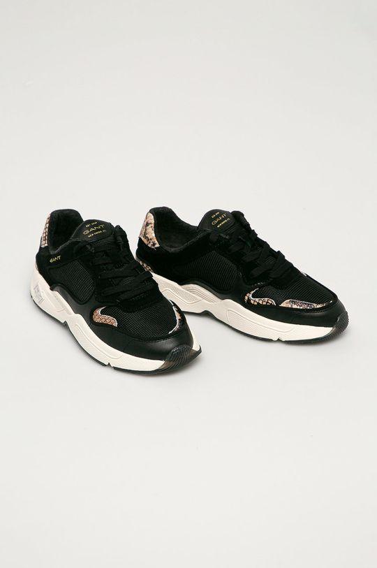 Gant - Kožené boty Nicewill černá