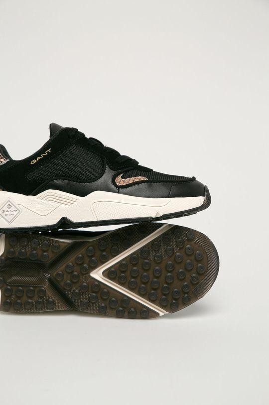 černá Gant - Kožené boty Nicewill