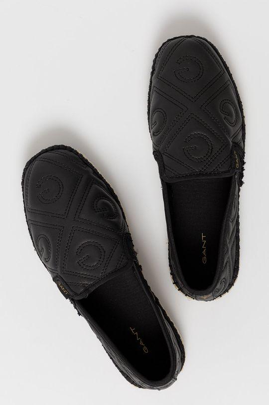 čierna Gant - Kožené espadrilky Lular