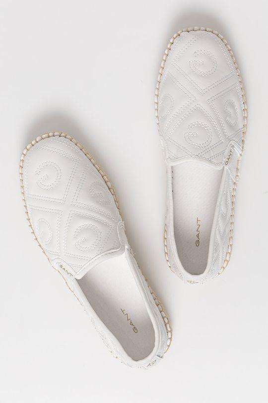 biela Gant - Kožené espadrilky Lular