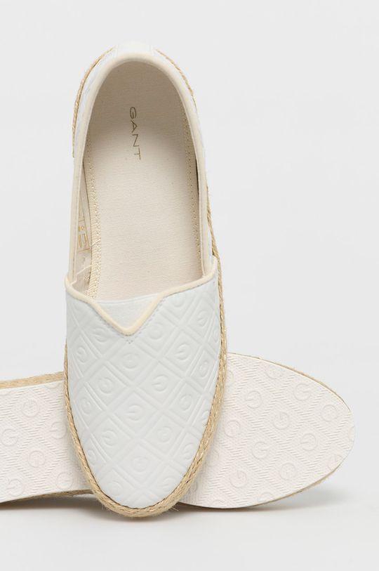 biały Gant - Espadryle Raffiaville