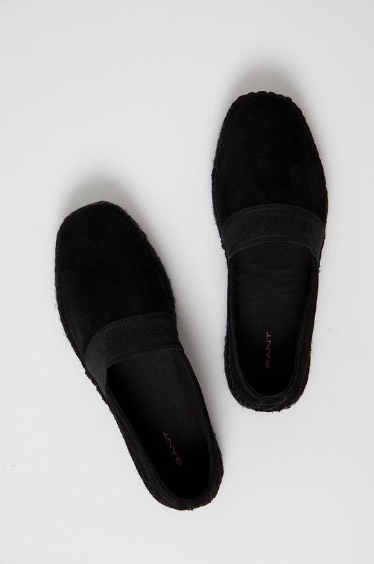 czarny Gant - Espadryle zamszowe Lular