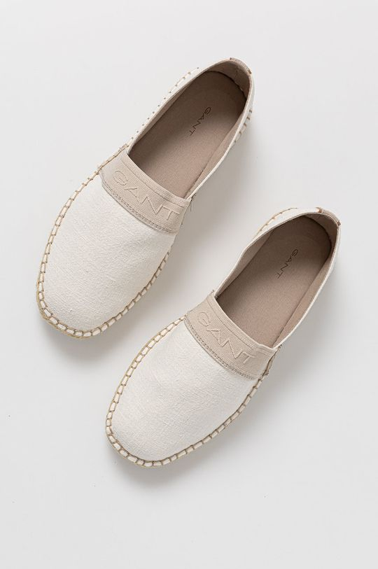 biały Gant - Espadryle Lular