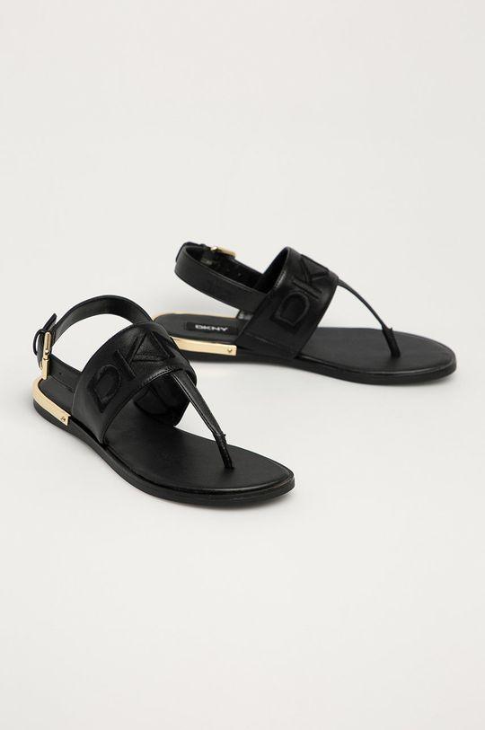 Dkny - Kožené sandále čierna
