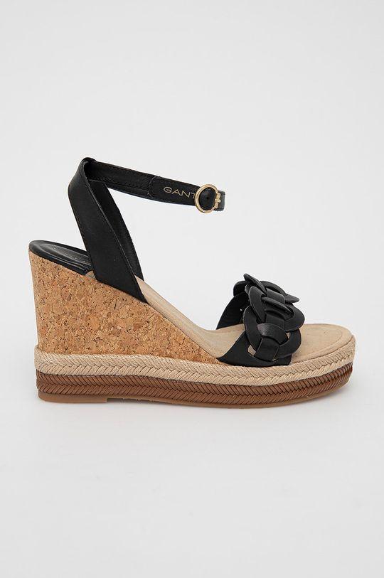 černá Gant - Kožené sandály Ivalice Dámský