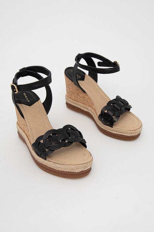 Gant - Kožené sandály Ivalice černá