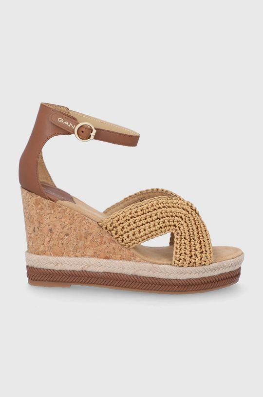 brązowy Gant - Sandały Ivalice Damski