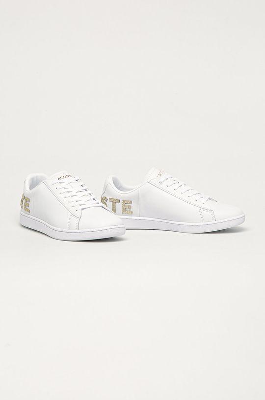 Lacoste - Kožené boty bílá