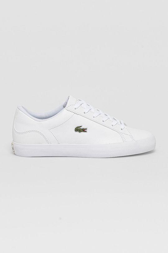 biały Lacoste - Buty skórzane Lerond Damski